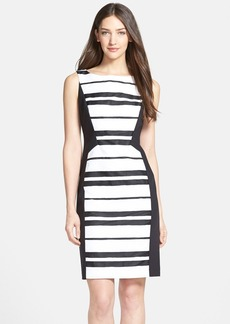 Lafayette 148 New York 'Kimberley' Colorblock Stripe Sheath Dress