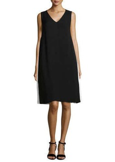 Lafayette 148 New York Kinsey Sleeveless Silk V-Neck Dress  Kinsey Sleeveless Silk V-Neck Dress