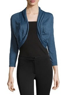 Lafayette 148 New York Knit Shawl-Collar Cardigan, Symphony Blue