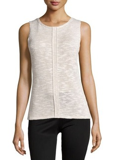 Lafayette 148 New York Knit Shell W/Center Seam