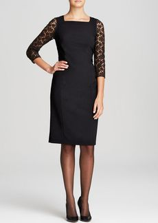 Lafayette 148 New York Kriya Lace Sleeve Dress
