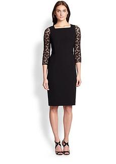 Lafayette 148 New York Lace-Detail Dress
