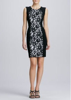 Lafayette 148 New York Lace-Front Sheath Dress