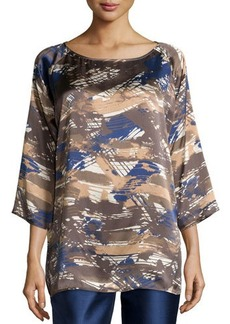 Lafayette 148 New York Laney Printed 3/4-Sleeve Blouse