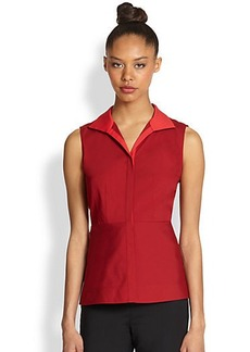 Lafayette 148 New York Lanore Contrast-Detail Blouse