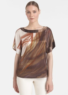 Lafayette 148 New York 'Larkin' Print Silk Top
