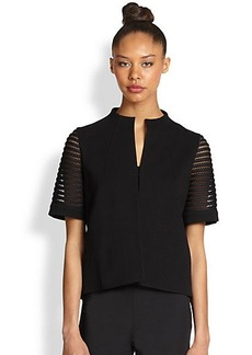 Lafayette 148 New York Lattice-Detail Jacket
