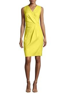 Lafayette 148 New York Laurel Linen-Blend Twist Dress, Parakeet