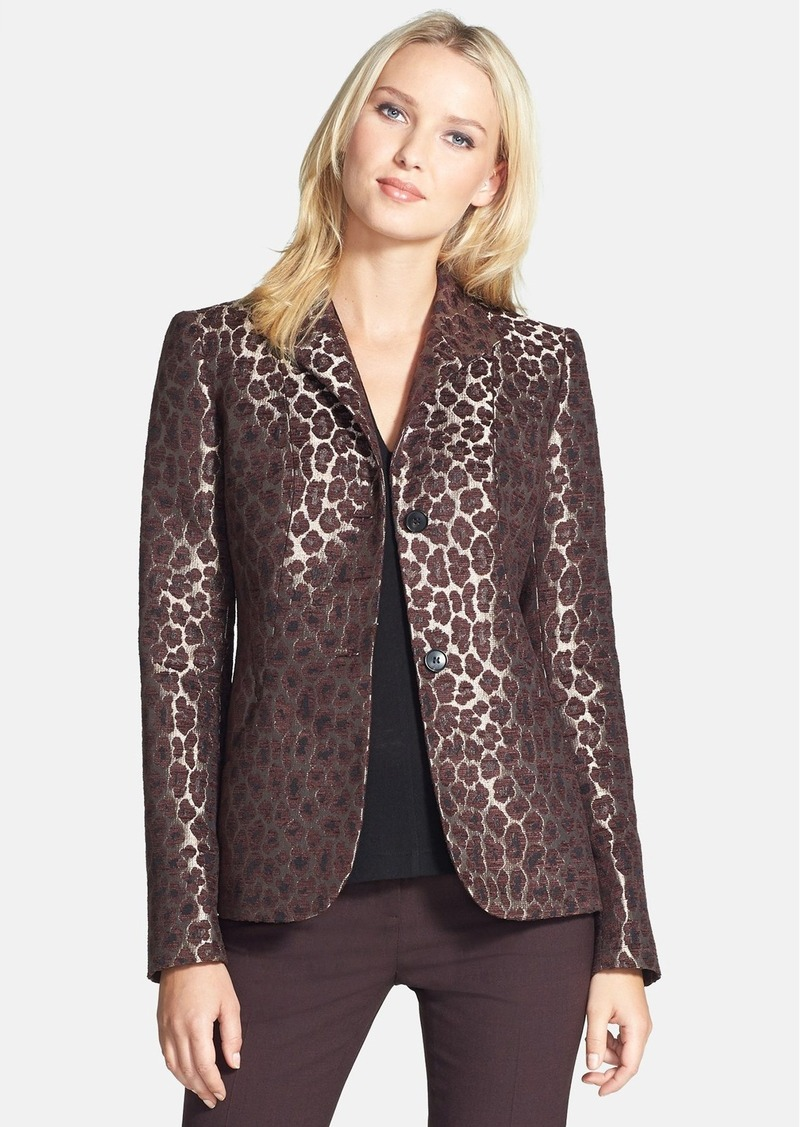 Lafayette 148 New York 'Laverna' Animal Jacquard Jacket
