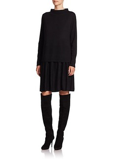 Lafayette 148 New York Layered Look Merino Wool Dress