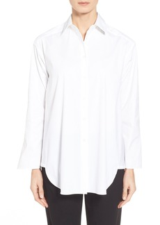 Lafayette 148 New York 'Leanne' Stretch Poplin Blouse