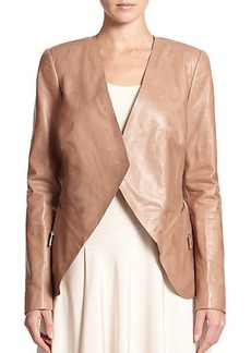 Lafayette 148 New York Leather Becca Cascade Jacket