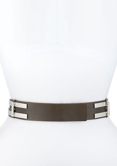 Lafayette 148 New York Leather Double-Pin Hinge Belt