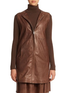 Lafayette 148 New York Leather Inez Vest