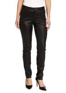 Lafayette 148 New York Leather Skinny Jeans