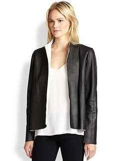 Lafayette 148 New York Leather Trina Bi-Colored Topper