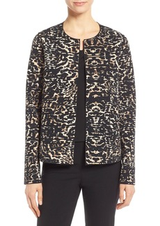 Lafayette 148 New York 'Leo - Sultry City' Collarless Jacket (Regular & Petite)