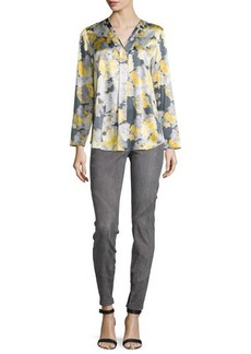 Lafayette 148 New York Libby Floral-Print Blouse