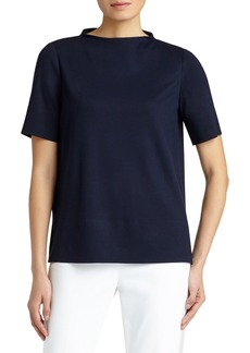 Lafayette 148 New York Lightweight Funnel Neck Top