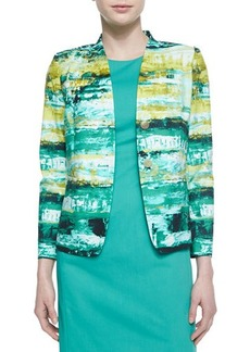 Lafayette 148 New York Lilith 2-Button Printed Jacket  Lilith 2-Button Printed Jacket
