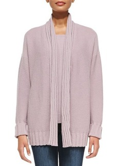 Lafayette 148 New York Line-Stitched Open-Front Cardigan