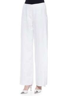Lafayette 148 New York Lined Wide-Leg Linen Pants