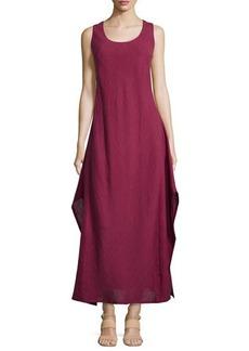 Lafayette 148 New York Linen & Gauze Sleeveless Long Dress, Pomegranate