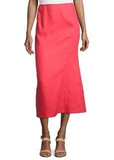 Lafayette 148 New York Linen A-Line Midi Skirt, Geranium