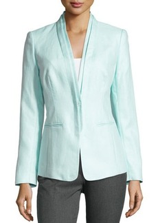 Lafayette 148 New York Linen-Blend Single-Button Jacket