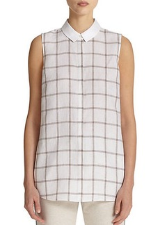 Lafayette 148 New York Linen Printed Blouse