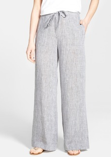 Lafayette 148 New York Linen Wide Leg Drawstring Pants
