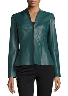 Lafayette 148 New York Liv V-Neck Leather Jacket
