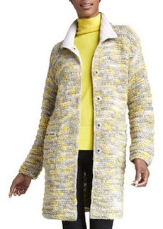 Lafayette 148 New York Long Chunky Knit Coat