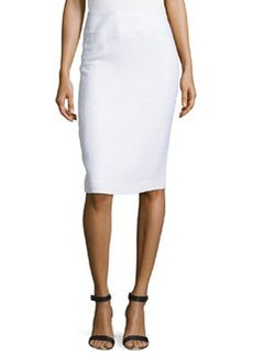 Lafayette 148 New York Long Pencil Skirt, White