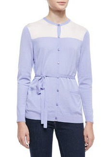 Lafayette 148 New York Long-Sleeve Belted Cardigan