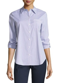 Lafayette 148 New York Long-Sleeve Button-Front Top