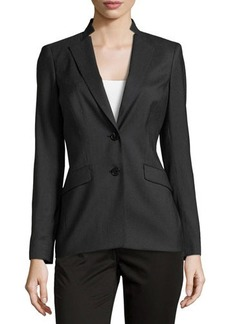 Lafayette 148 New York Long-Sleeve Double-Button Blazer
