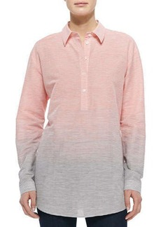 Lafayette 148 New York Long-Sleeve Ombre Striped Shirt  Long-Sleeve Ombre Striped Shirt