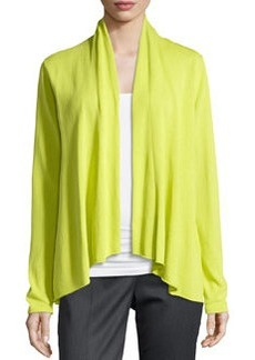 Lafayette 148 New York Long-Sleeve Open-Front Cardigan, Yellow-Green