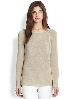 Lafayette 148 New York Long-Sleeve Open-Weave Sweater