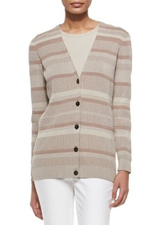 Lafayette 148 New York Long-Sleeve V-Neck Cardigan