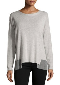 Lafayette 148 New York Long-Sleeve Wool-Blend Pullover Sweater