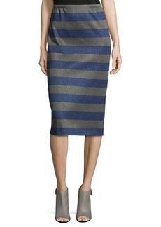 Lafayette 148 New York Long Striped Pencil Skirt  Long Striped Pencil Skirt
