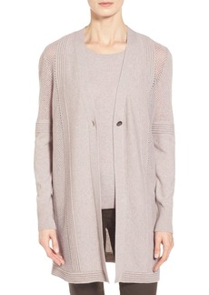 Lafayette 148 New York Long Wool & Cashmere Cardigan