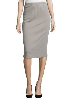 Lafayette 148 New York Long Wool Pencil Skirt
