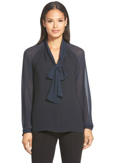 Lafayette 148 New York 'Louise' Tie Neck Silk Blouse