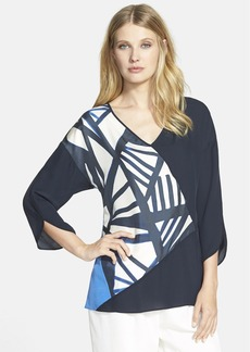 Lafayette 148 New York 'Lourdes' Colorblock Silk Blouse