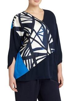 Lafayette 148 New York Lourdes Graphic Silk Blouse
