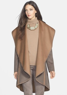 Lafayette 148 New York 'Lucinda' Double Face Reversible Open Front Coat