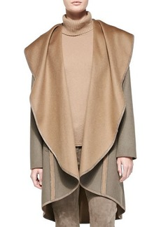 Lafayette 148 New York Lucinda Reversible Cascading-Collar Coat